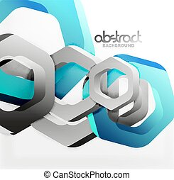 Overlapping hexagons design background - Overlapping...