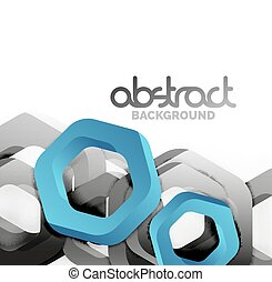 Overlapping hexagons design background