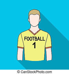 Footballer.Professions single icon in flat style raster,...