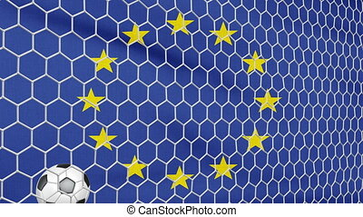 Ball and EU flag