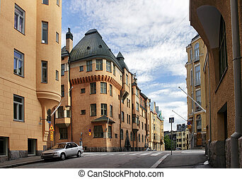 Katajanokka district of Helsinki - Beautiful view of...