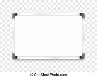 Whiteboard - Blank whiteboard with shadow, vector eps10...