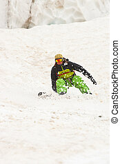 Sportsman in the mountains - Sportsman in Caucasus mountains...