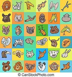 pattern with cartoon animals design