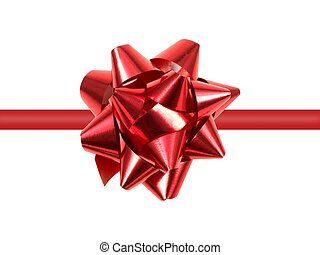 Christmas Wrapping - Christmas wrapping isolated against a...