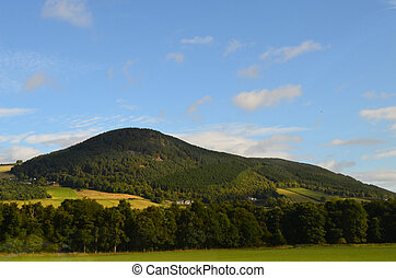 Green Cairngorm Mountain in the Scottish Highlands -...