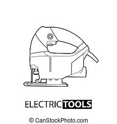 Outline electric jigsaw