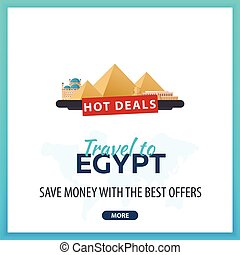Travel to Egypt. Travel Template Banners for Social Media....