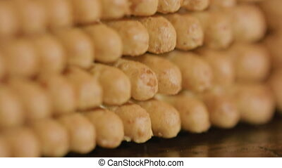 Stack of Cracker - Stack of cracker. Camera movement from...