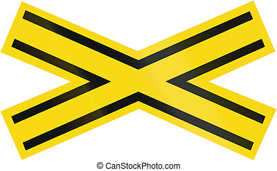 Railway Crossing warning sign used in Brazil.
