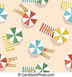 Summer beach vacation top view women pattern - Summer...