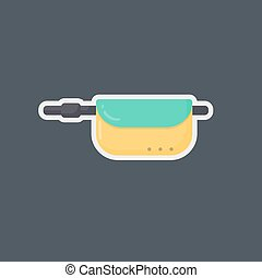 Waist bag vector flat icon, flat design of travel, hobby and...