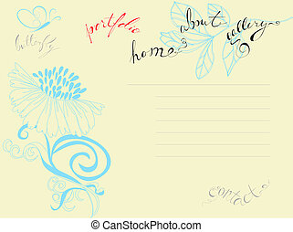 Template for web design with flower