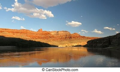 Potash Road - Time lapse sunset over Colorado River, Potash...