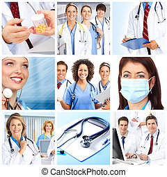 doctors  - smiling medical doctors with stethoscopes