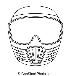 Protective mask.Paintball single icon in outline style...
