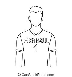 Footballer.Professions single icon in outline style raster,...