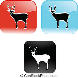 deer shiny icon buttons vector illustration