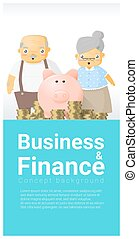 Business and Finance concept background with senior couple and retirement plan 2