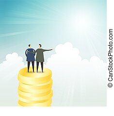 Privilege Business Concept - Vector illustration of two...