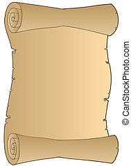 Old paper scroll - vector illustration