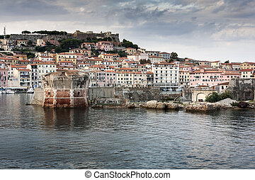 Elba old harbor - Colorful view about the old harbor and...