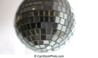 Disco ball hanging and spinning