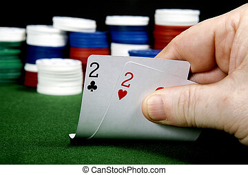 Twos - Pair of twos at poker From a series of poker starting...