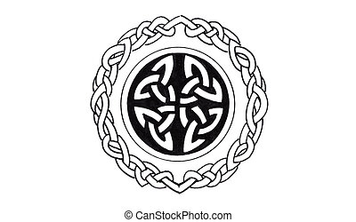 Sketch of tattoo art, celtic design