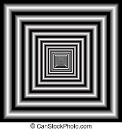 tunnel. optical illusion - Abstract design with geometric...