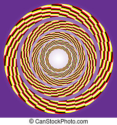 eccentric rotating circle - vector optical art