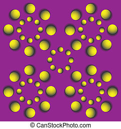 rotating balls.optical illusion - Abstract design with...