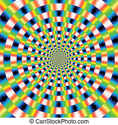 vector optical art - Abstract design with geometric shapes...