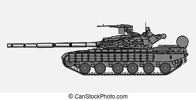 Russian tank - Detailed vector illustration of tank T64
