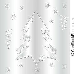 Metal Christmas background