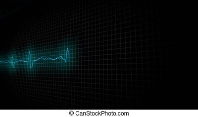 Heart Attask. Cardiogram of a diseased heart - Cardiogram of...