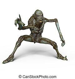 Monster - 3D CG rendering of a monster.
