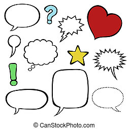 Comics speech balloons bubbles - Comics-style vector speech...