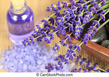 Lavender spa - Spa resort and wellness composition -...