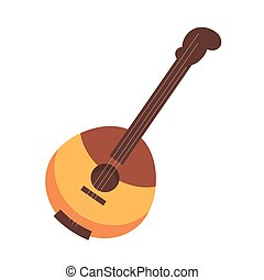 National Russian and Ukrainian wooden stringed instrument...