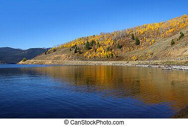 Hebgen lake - Scenic Hebgen lake in Montana near Yellowstone...