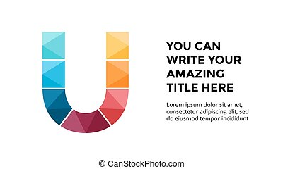 Vector alphabet infographic, presentation slide template....