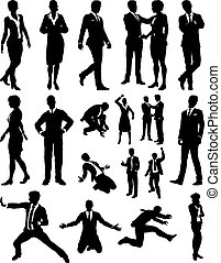 People Business Silhouettes - A business people silhouettes...