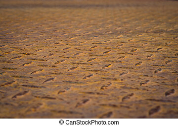 Old rusty diamond plate steel floor background - Pattern of...