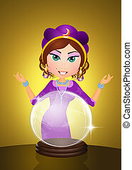 fortune-teller - illustration of fortune-teller