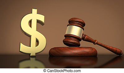 Law And Dollar Symbol Justice Concept - Law, lawyer and...