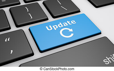 Update Icon Computer Keyboard - Update sign and icon on a...