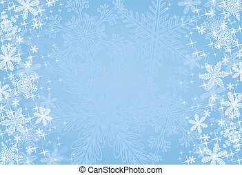 Blue Christmas Snowflake Background - A wintry blue...