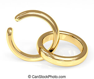 Divorce - Symbol of divorce - broken wedding ring