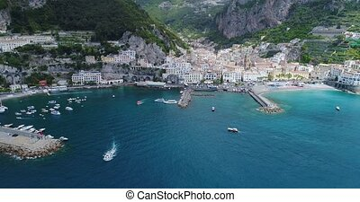 Beautiful flight over Amalfi at Italy - Beautiful flight...